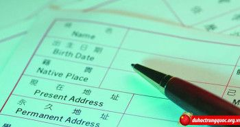 Mẫu đơn xin học bổng thành phố Thượng Hải loại A