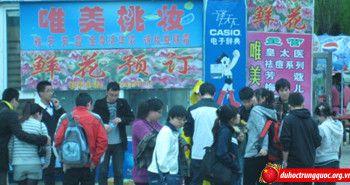 Chợ sinh viên ở Trung Quốc