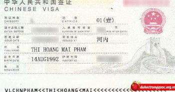 Tin visa Phạm Thị Hoàng Mai – Đại học khoa học kĩ thuật điện tử Quế Lâm
