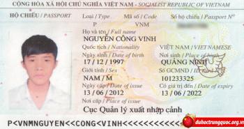 Tin visa: Nguyễn Công Vinh – Đại học Trung Sơn, Quảng Châu