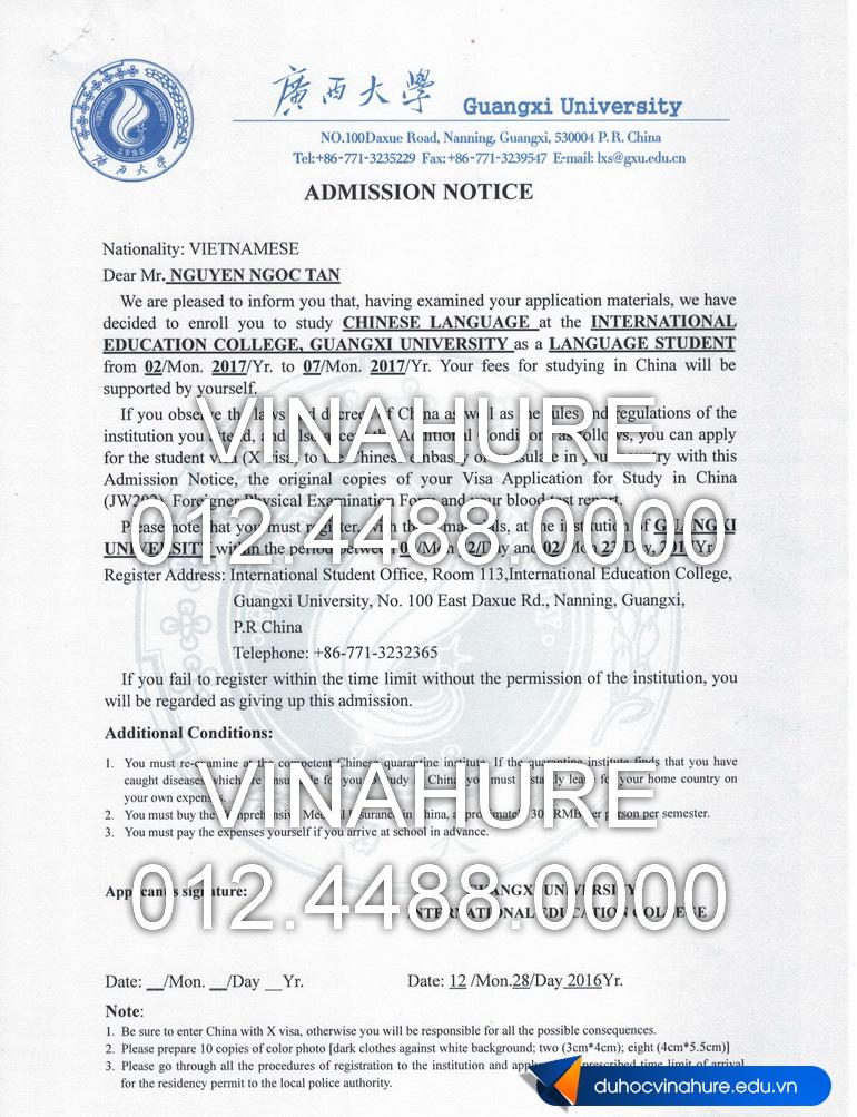 NGUYEN NGOC TAN - Admission E web