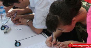Mẫu đơn xin nhập học của Đại học Thiên Tân