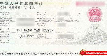 Tin visa: Nguyễn Thị Hồng Vân – Học sinh Đại học Tứ Xuyên – Thành Đô – Trung Quốc