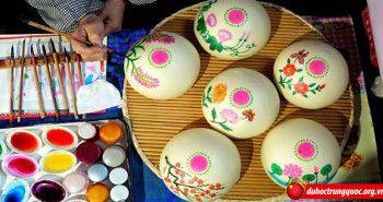 Nghệ thuật vẽ tranh trên bánh dịp xuân về tại Trung Quốc