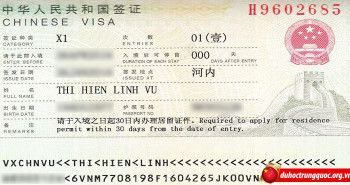 Tin visa Vũ Thị Hiền Linh đại học Sơn Đông Trung Quốc