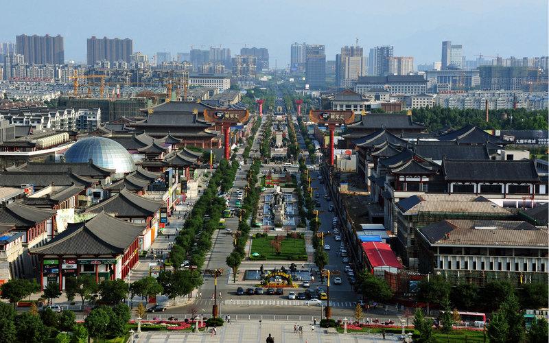 Tây An một thành phố cổ kính pha lẫn hiện đại.